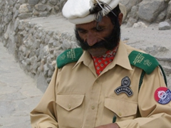 Check out the Baltit Fort guard's massive mustache!