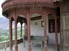 Close up view of the throne terrace, Baltit Fort rooftop