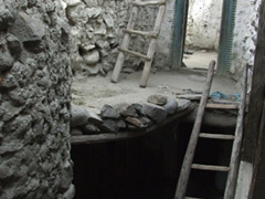 Interior view of Ganish Village...today about 31 families live here