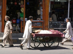 The Gilgit bazaar is a bustling hive of activity