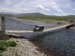 Another angle of Deosai National Park's most famous bridge