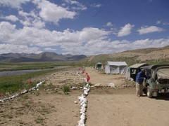 A view of our Deosai park campground