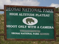 We loved this Deosai National Park sign!