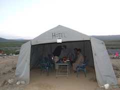 Our meal tent where we enjoyed dinner and breakfast; Deosai National Park