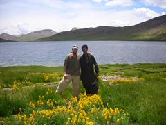 Robby and Zia at Deosai Lake