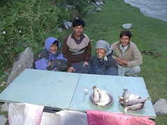 Our fishing crew (Hamid, Hasan Sha, Zia and our porter)