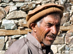 Village elder with a weathered face