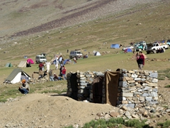 Here is a photo of the make shift latrines at Shandur. Bring your own blanket (to serve as a door) and toilet paper