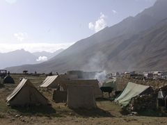 Everyone camps out at Shandur. Some tents are more luxurious than others