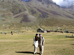 The Shandur mountains dominate us in the background