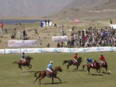 And they are off! Polo is a violent sport, and the players beat each other mercilessly