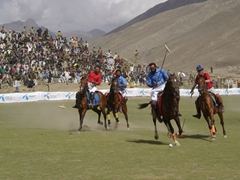Since 1936, the Shandur plains have been host to the annual polo festival held each July. Unfortunately, each year a horse succumbs to a heart attack while playing free style polo