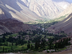 The view from the back of the Phander PTDC hotel