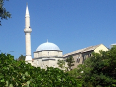 One of Mostar's many mosques