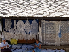 Lace for sale, Mostar old town