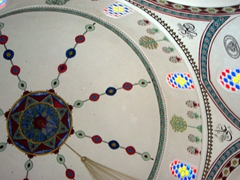 Colorful dome, Mostar mosque