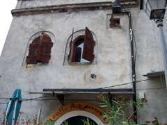 This old building in Mostar has been converted into a cafe/pizzeria