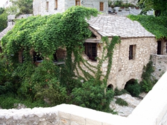 Ivy-covered house, Mostar