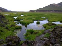 Hot springs surrounding Landmannalaugar