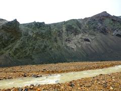 "It is easy to see how Mt Bláhnjúkur earns its nickname (""Blue Peak"")"