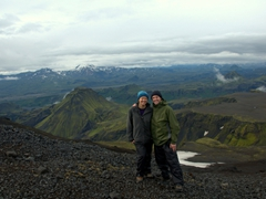 Our spirits soared at the first glimpse of Thórsmörk Valley. From here, it was all downhill to our campsite
