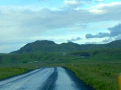 The winding road towards  Vík í Mýrdal