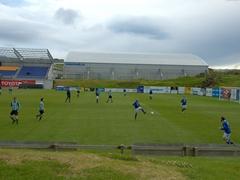 Soccer game; Heimaey Island