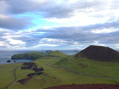After climbing to the top of Eldfell Volcano, you are rewarded with vistas like this (looking to the South of Heimaey Island)