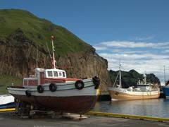 Boats in Heimaey harbor