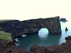 Gigantic lava arch of Dyrhólaey