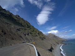 Our first glimpse of the 120 KM stretch of road linking the East Fjords together