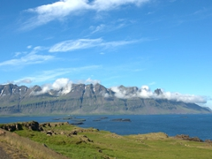 Scenic East Fjord...we were lucky to drive this section on one of the few sunny days we had in Iceland