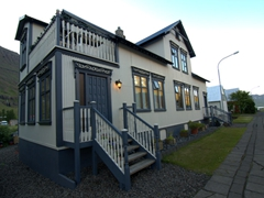 Seyðisfjörður is famous for its old wooden buildings such as this one