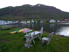 "Pretty Seyðisfjörður gets the following write up in Lonely Planet, ""If you visit only one town in the Eastfjords, this should be it. Made up of multicoloured wooden houses and surrounded by snowcapped mountains and cascading waterfalls, obscenely picturesque Seyðisfjörður is the most historically and architecturally interesting town in east Iceland"""