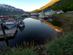 Seyðisfjörður's quaint harbor