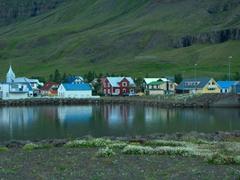 Colorful wooden buildings of Seyðisfjörður