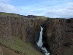 View of Litlanesfoss (located about halfway on our hike from the parking lot to Hengifoss)