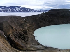 For all our efforts, we were finally rewarded with this panoramic view of Askja