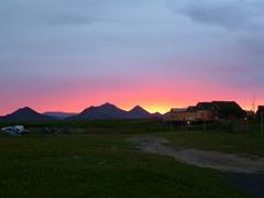 A beautiful sunset over our Möðrudalur farm campsite