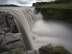 View of Europe's most powerful waterfall, the mighty Dettifoss