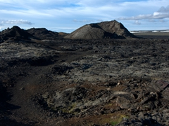 View of the Leirhnjukur Krafla lava field
