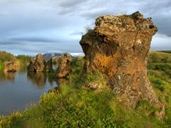 Lava pillar formations of Kálfaströnd