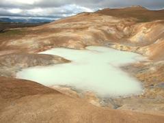 Poisonous sulfur pool at Leirhnjúkur, Krafla