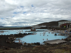 Touting itself as a viable alternative to the Blue Lagoon, the Mývatn Nature Baths complex wasn't too crowded during our visit