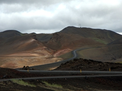 The colorful hills of Mývatn