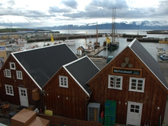 View overlooking Húsavík's harbor