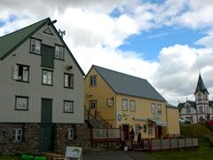 Húsavík's petite town center