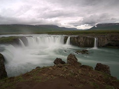 "Goðafoss (""waterfall of the gods"") is an impressive sight in North Iceland"