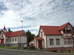 Akureyri is full of quaint picket-fenced houses
