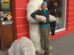 Becky and the drunk polar bear; Akureyri